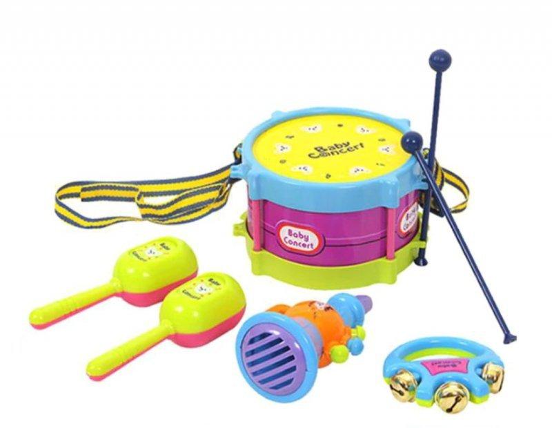 Bębenek-grzechotki-instrumenty-dla-dzieci-zestaw