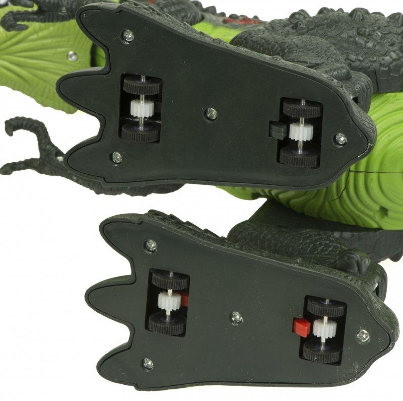 Dinozaur T-REX elektroniczny chodzi ryczy zielony