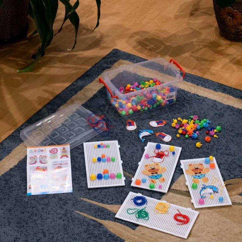 Puzzle pinezki grzybki + nauka szycia zestaw 603 el