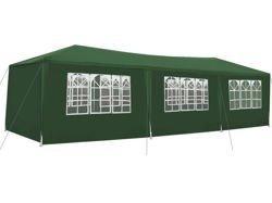 Namiot pawilon handlowy ogrodowy 3x9m zielony 8 ścianek