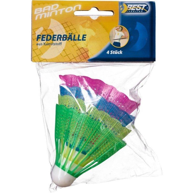 Lotki do badmintona nylon kolor Kpl 4 szt