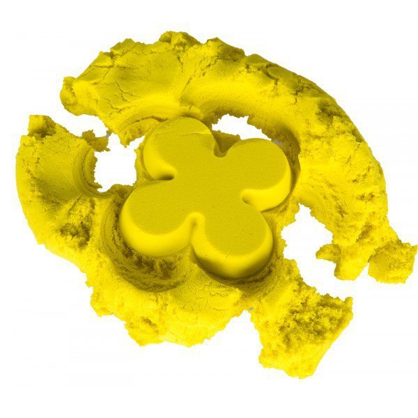Piasek kinetyczny 1 kg w woreczku żółty