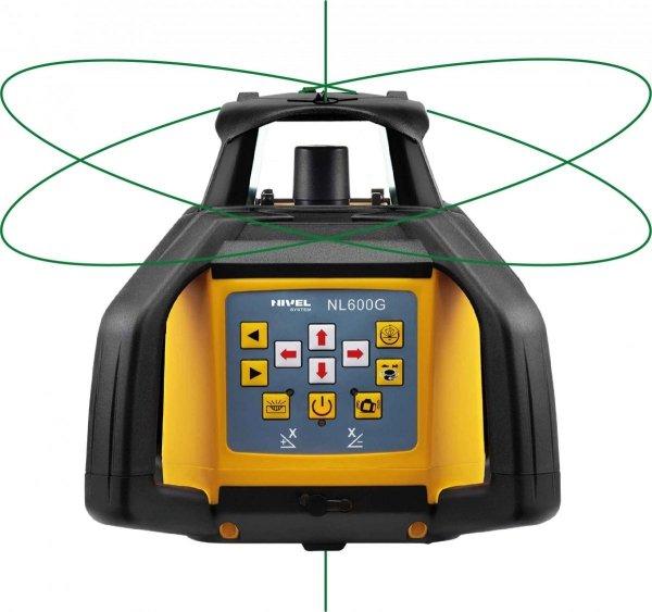 Nivel System NL600G Digital zestaw z łatą i statywem korbowym