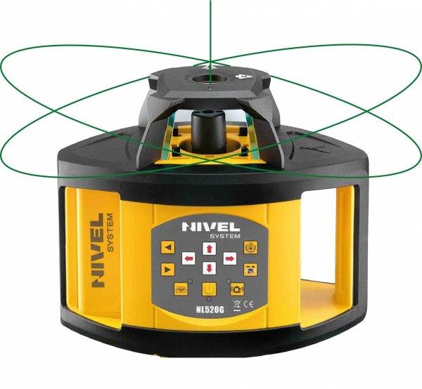 Nivel System NL520G Digital zestaw  z łatą i statywem korbowym