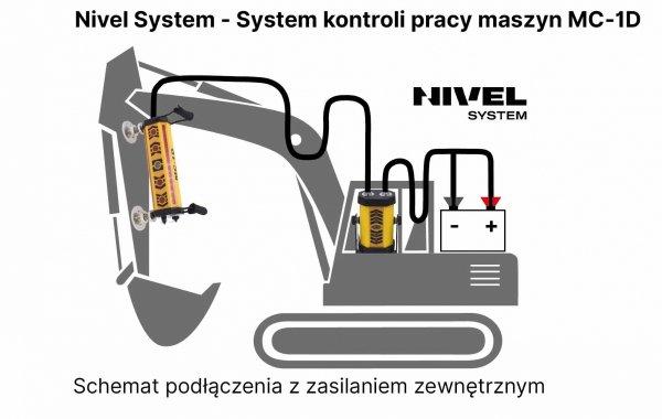 NIWELATOR LASEROWY NIVEL SYSTEM NL610 DIGITAL Z LASEROWYM SYSTEMEM KONTROLI PRACY MASZYN BUDOWLANYCH