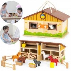 VIGA Drewniana Stadnina dla Koni w Walizce
