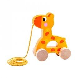 TOOKY TOY Drewniana Żyrafa do Ciągnięcia za Sznureczek