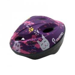 Kask rowerowy dziecięcy regulowany Enero Love Kitty r.L (51-53cm)