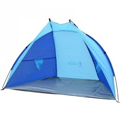 Namiot Osłona Plażowa Sun 200X100X105Cm Błękitno-Niebieska Royokamp