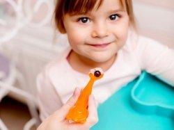 Łyżeczka zmieniająca kolor Pomarańczowy miś 6m+ 2 szt. KIDODO