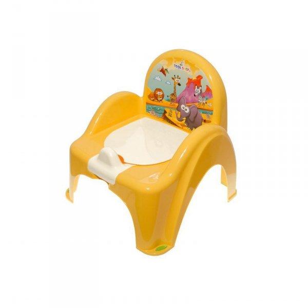 Nocnik-krzesełko safari z pozytywką żółty