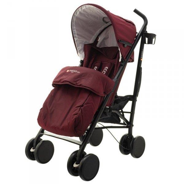 Wózek eco swiss design 300d purple red
