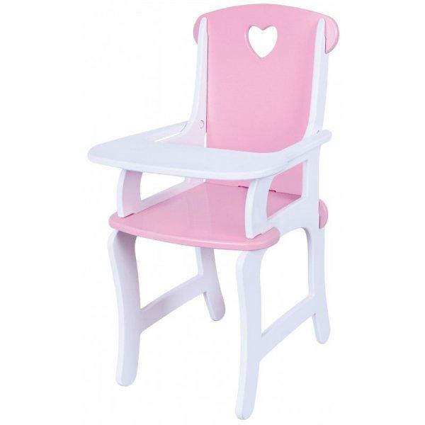 Drewniane krzesełko do karmienia lalek Viga