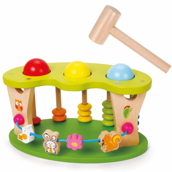 Wielofunkcyjna przybijanka bijak dla dzieci drewniany Classic World