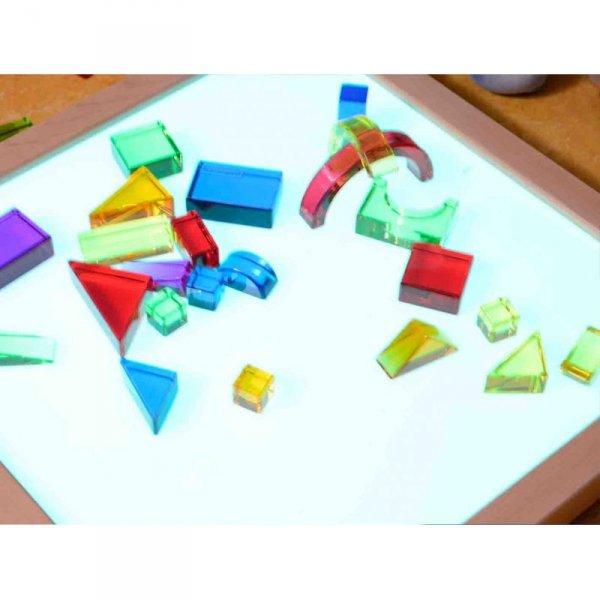 Przezroczyste Kolorowe Klocki Akrylowe Masterkidz Nauka O Kolorach