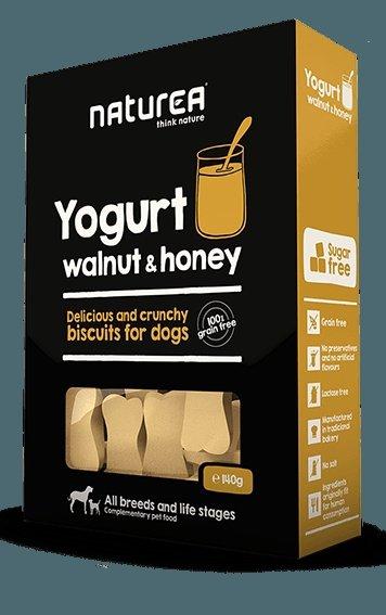 NATUREA Jogurt z orzechami i miodem 140G – Bezzbożowe biszkopty dla psów