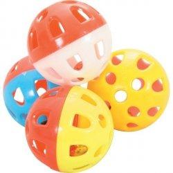 Zolux 580132 Zabawki dla kot  4szt z dzwonkiem 3cm