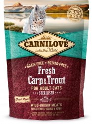 Carnilove Cat 7427 Fresh Carp&Trout Sterilis 400g