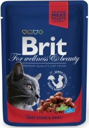 Brit 5982 Premium Cat 100g Wołowina Groszek sasz