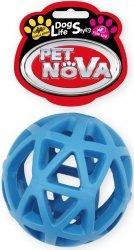 Pet Nova 2301 Piłka ażurowa 9cm vanilia niebiesk