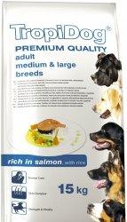 Tropidog 57118 Premium Adult M&L Salmon&Rice 15kg