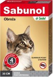 Sabunol 1476 Obroża dla kota szara 35cm