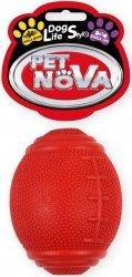 Pet Nova 2363 Piłka rugby na przysmaki 8cm czerwo