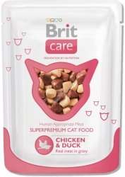 Brit 7047 Care Cat 80g Chicken Duck saszetka