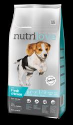 Nutrilove Dog 11468 Junior S&M 8kg kurczak