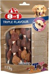 8in1 144632 Przysmak Triple Flavour Skewers 6szt.