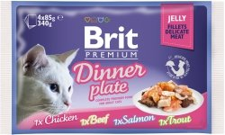 Brit Cat Fillet Dinner Plate 4x85g saszetki galare