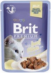 Brit 8470 Premium Cat 85g Wołowina galaretka sasz