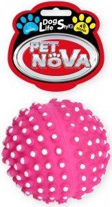 Pet Nova 1472 Piłka jeż mała z wypustki 6,5cm róż