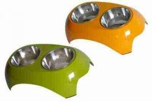 Miska z melaminy DB-12-L podwójna zielona