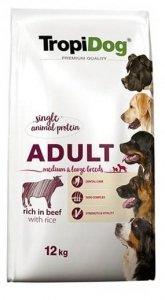 Tropidog 57077 Premium Adult M&L Beef&Rice 12kg