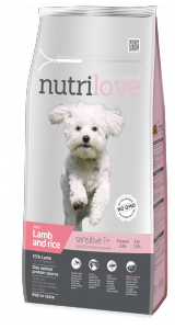 Nutrilove Dog 12503 Adult S&M 1,6kg Lamb& Rice