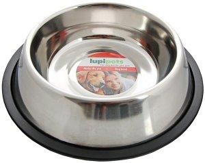 LupiPets Miska 0,45L metalowa dla psa na gumie
