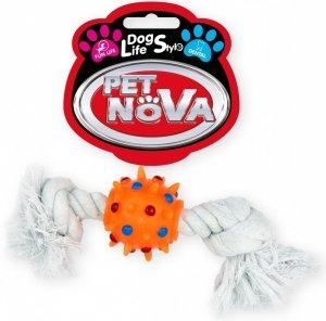 Pet Nova 1670 Piłka pomarańczowa na sznurze 25cm