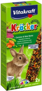 Vitakraft 0155 Kracker 2 szt dla królika warzy/bur
