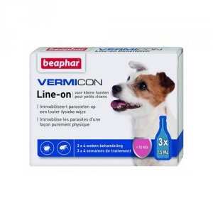 Beaphar 11902 Vermicon Ektopasożyty Dog S 3x1,5ml