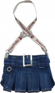 Dolly C109-XXS Spódniczka z szelkami jeans 13-15cm