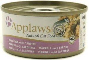 Applaws 1015 Cat Makrela z sardynką 70g puszka