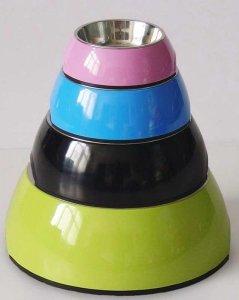 Miska z melaminy DB-01-L rozmiar L okragła pomarań