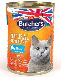 Butchers 5727 Cat Natural&Healthy 400g pstrąg gal