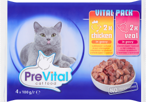 PreVital 8894 Multipack 4*100gr 2xkura,2xcielęcin