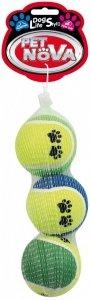 Pet Nova 1451 Piłki tenisowe nadruk 3szt