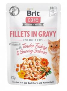 Brit 0501 Care Cat 85g Turkey Salmon saszetka