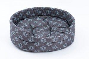 Derma 3027 legowisko z poduszką niebieską łapkę 5