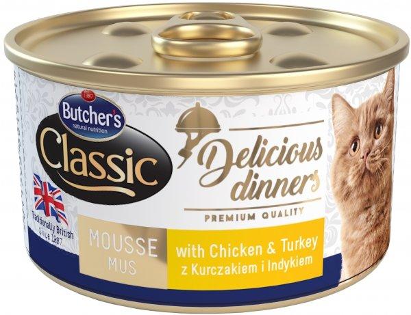 Butcher's 1651 Delicious Dinners kurczak/indyk 85g
