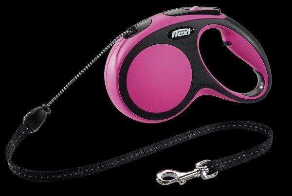 Flexi 2911 Comfort M Cord 8m 20kg różowa*